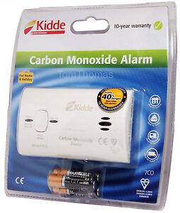 Kidde Carbon Monoxide Gas Detector Alarm Includes Batteries Home / Caravan