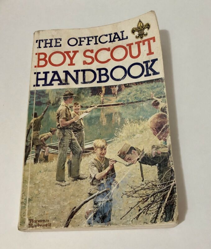 The Official Boy Scout Handbook 1988 BSA Boys Scouts of America Manual Rockwell