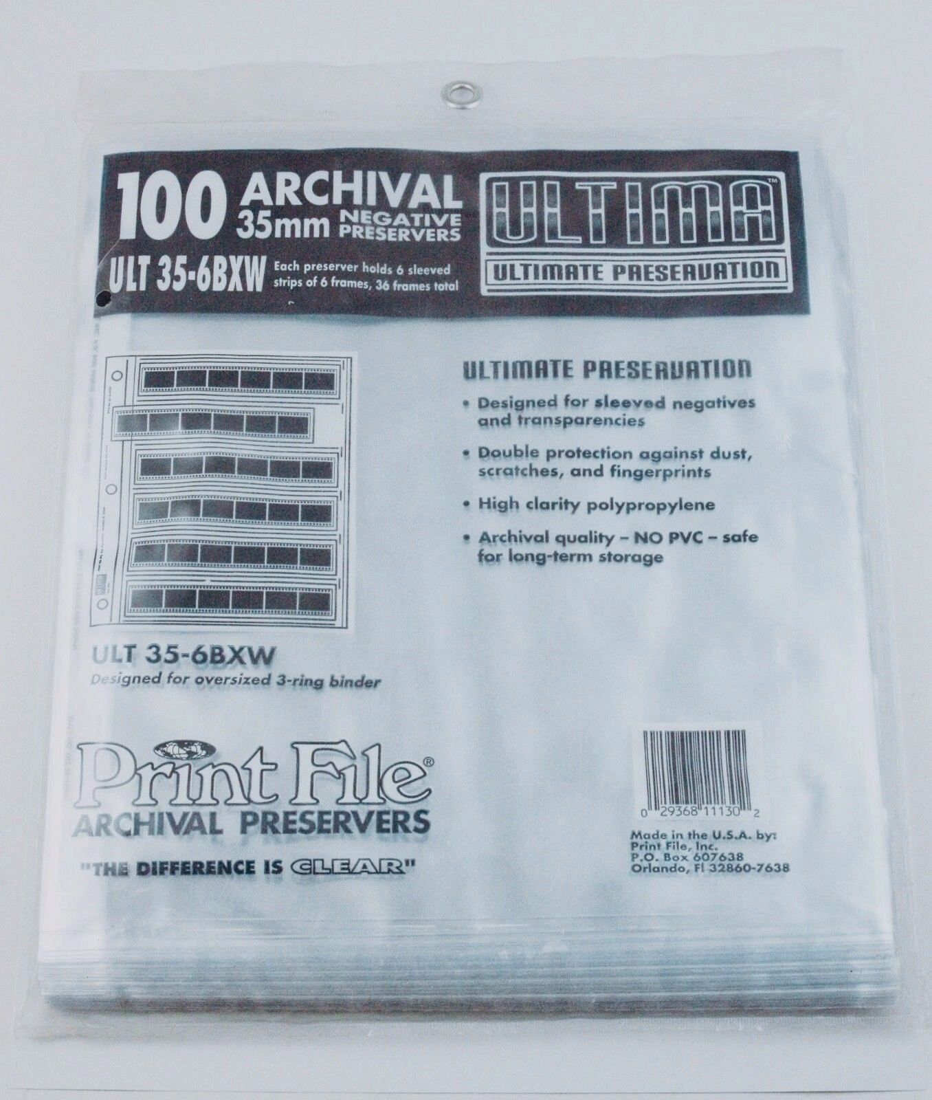 190190 Print File 100 Extra-thick 35mm File Pages For 6 S...