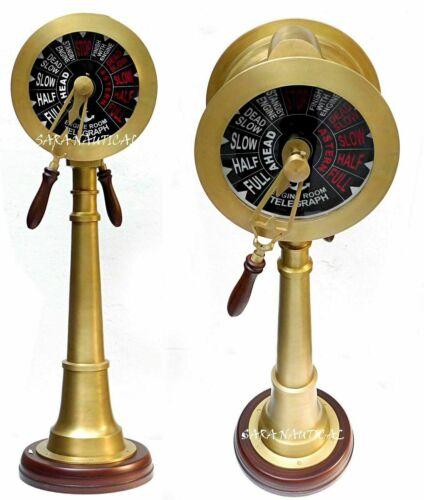"37"" Nautical Telegraph Brass Engine Room Telegraph Vintage Marine Antique Finish"