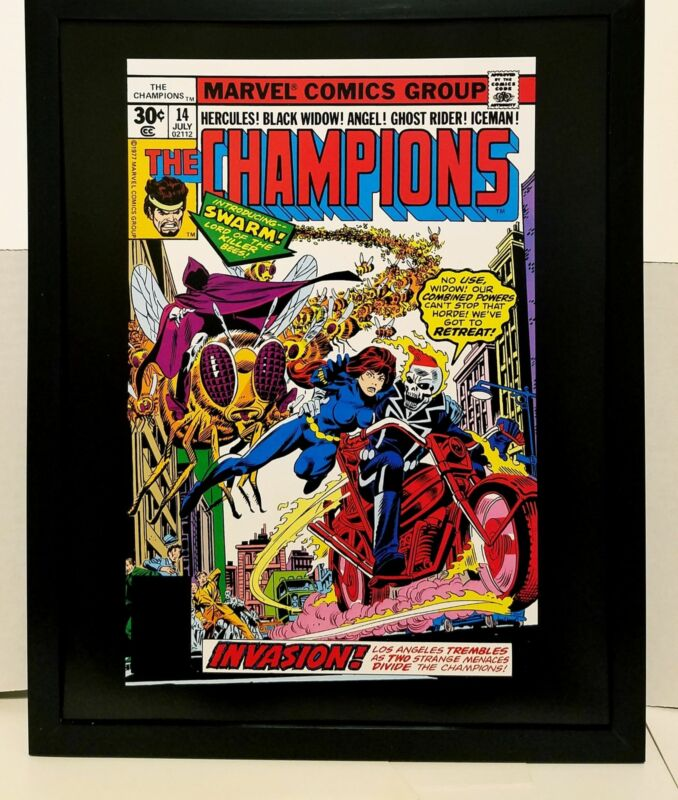 Champions #14 Ghost Rider by Gil Kane 11x14 FRAMED Marvel Comics Art Print Poste