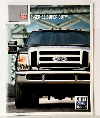 2007, 2008 Ford Super Duty Sales Brochures, Accessories, Towing Guide, F-350 250