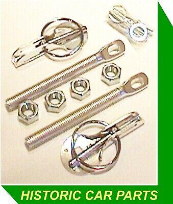 BONNET RETAINING KIT - Chrome Anchor Pin Ring Pin Washers