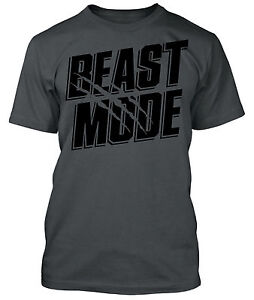 Beast Mode Shirt Gym Workout Gear Body Building Crossfit Training MMA Work Out
