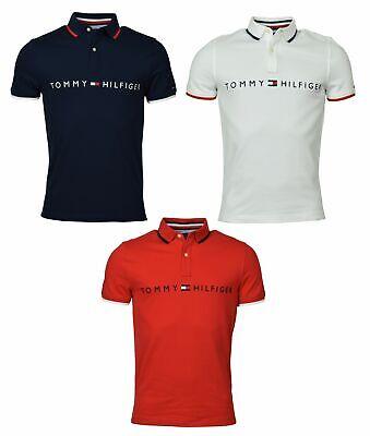 Tommy Hilfiger Men's Classic Fit Cotton Logo Polo Shirt