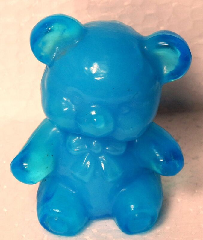 Boyd Glass Fuzzy the Bear Baby Blue Signed