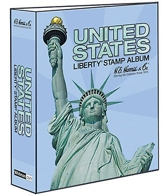 """HE Harris United States Liberty Stamp 3"""" 2 POST Traditional BINDER ONLY (HEBDLIB"""