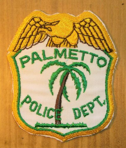 GEMSCO NOS Vintage Patch POLICE DEPARTMENT PALMETTO FL - Original 50 year old