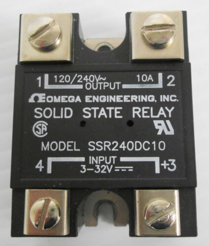 Omega SSR240DC10 Solid State Relay Input 3-32VDC Output 120/240VAC