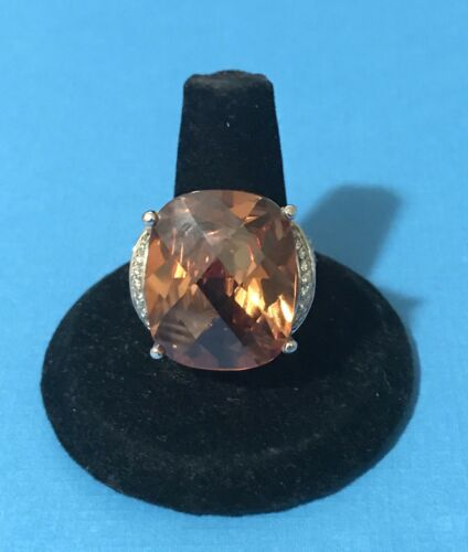 FAB STERLING SILVER RING CITRINE CWE CHARLES WINSTON - $23.00