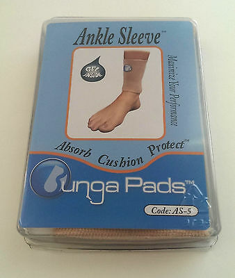 """NEW Bunga Pads 5"""" gel-lined Ankle Sleeve SM"""