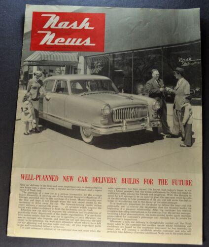 1953 Nash News Brochure Ambassador Original 53