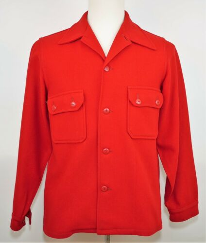 Vintage BOY SCOUTS OF AMERICA OFFICIAL RED WOOL COAT JACKET - Men