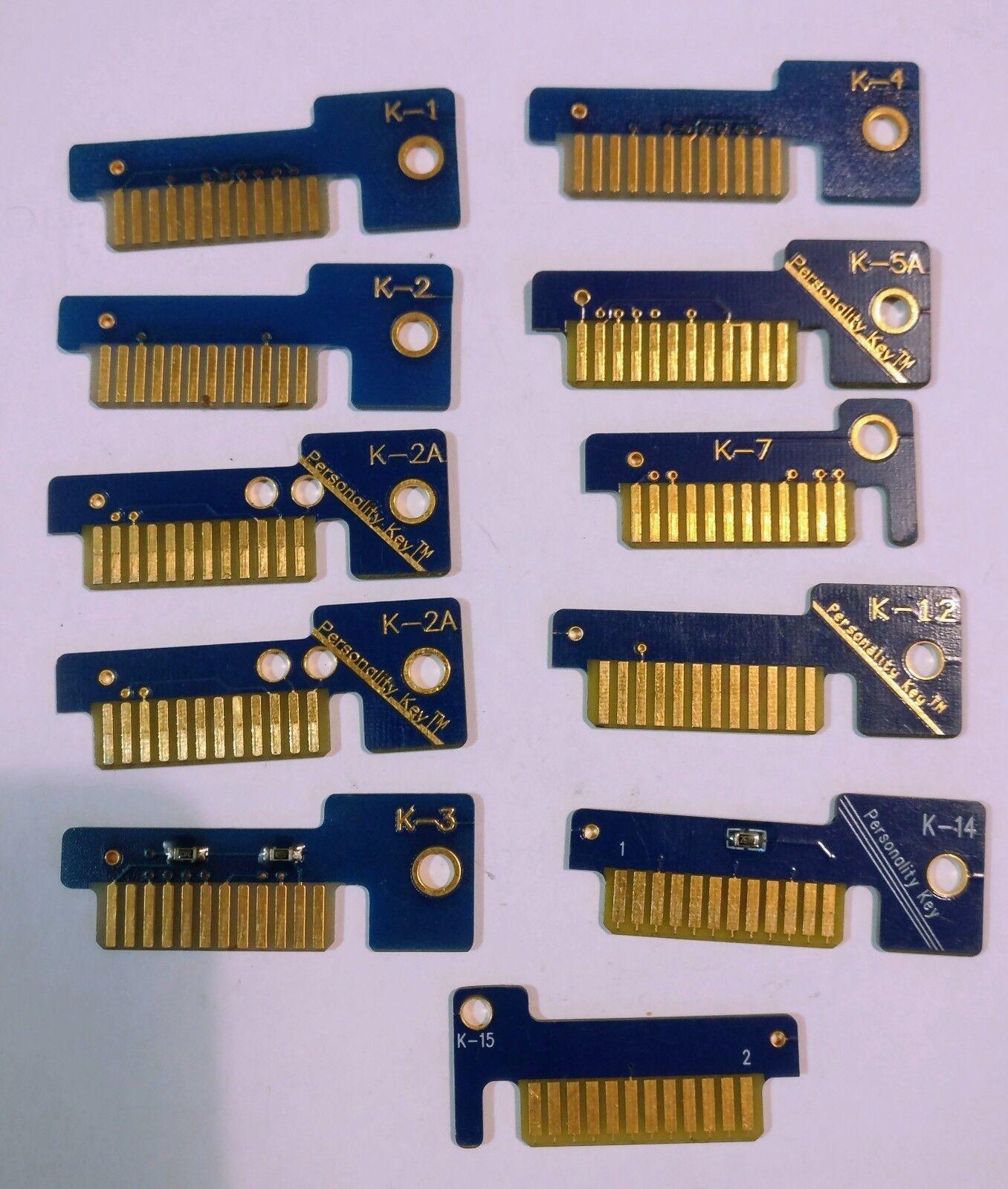 Snap on MT2500 personality keys K-1 K-2 K-2A K-3 K-4 K-5A K-7 K-12 K-14 K-15