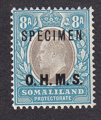 British Somaliland 1904 8a OHMS Specimen unused no gum