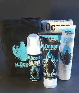 H2ocean extreme tattoo care kit aftercare etc aquatat for Soap for new tattoo