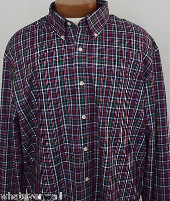 NWT Sport Shirt LS Saddlebred Big and Tall Red Green Mens Wrinkle Free New 2XLT, used for sale  Shipping to Canada