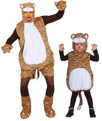 Tiger Leopard Kostüm Overall Plüsch Tigerkostüm Löwe Lion Löwenkostüm Raub - Plüsch Tiger Kostüm