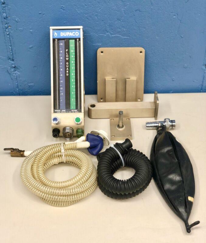 Dupaco 80000 Dental Nitrous Oxide Flowmeter Wall Mount Patient Sedation System