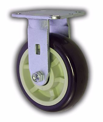 6 X 2 Polyurethane Wheel Rigid Steel Caster 1000 - Heavy Duty Trolley Cart