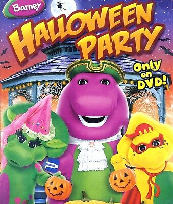Barney: Halloween Party, DVD trick or treat children kids games read educational - Halloween Trick Or Treat Games