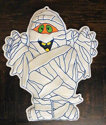 """Halloween Door Decorations Mummy (20"""" Vintage Halloween Plastic Mummy Puffy Puff 3D Wall Door Decor)"""
