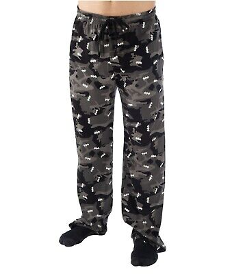 Batman Pajama Pants Sleep Lounge Bottoms Black Camo Mens Big Size 2XL-3XL
