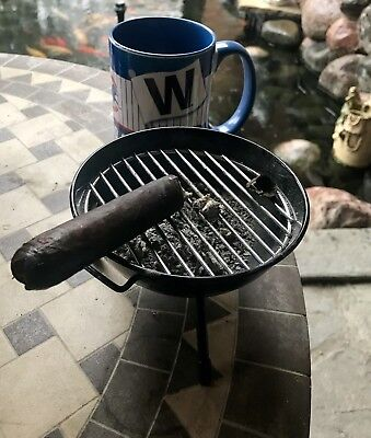 Weber BBQ Kettle Novelty Grill Cigar/Cigarette Ashtray Collectible New Black Toy