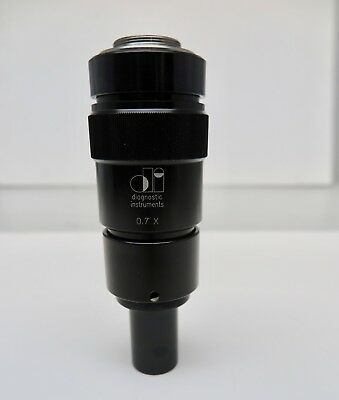 Diagnostic Instruments Microscope 3 Ccd Camera Adapter 0.7x 0.7 X