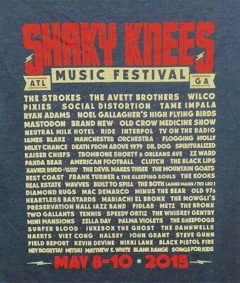 "T-Shirt MED ""2015 Shaky Knees Music Festival"" Atlanta Ga. T-Shirt"