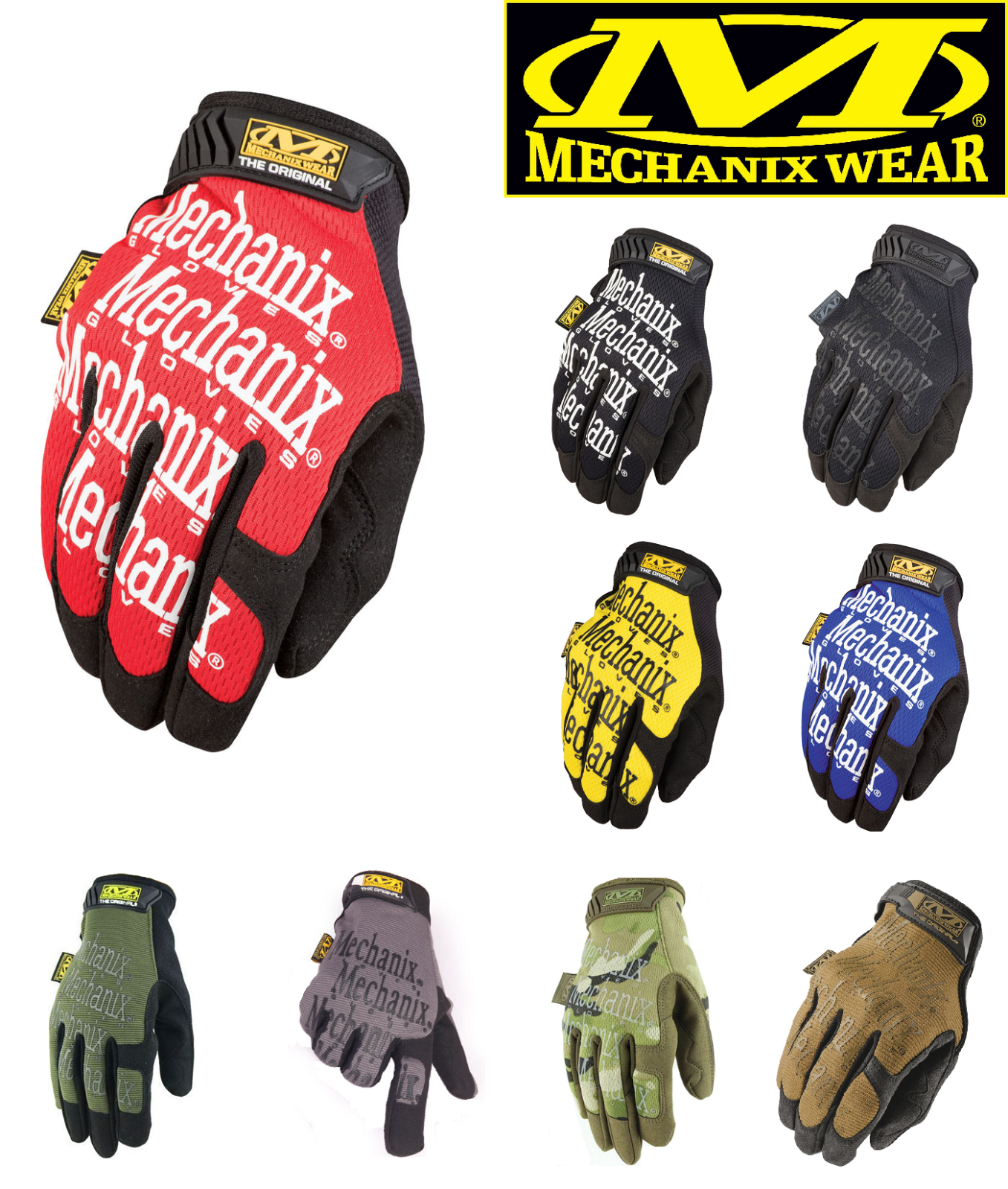 Mechanix Tactical Gloves Military Work Race Sports Game Paintball Mechanic Army -  - ebay.es