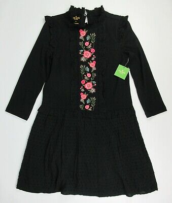 NWT $248 Kate Spade Womens Small Embroidered Mixed  Broome Street Media Dress