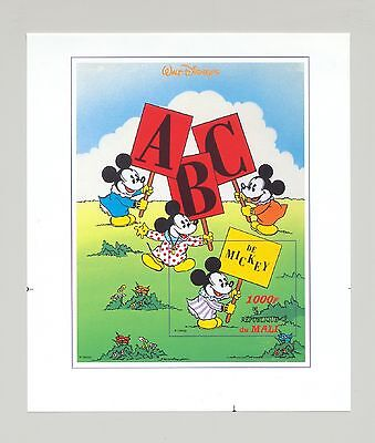 Mali #801 Disney, Mickey, ABC 1v S/S Imperf Proof