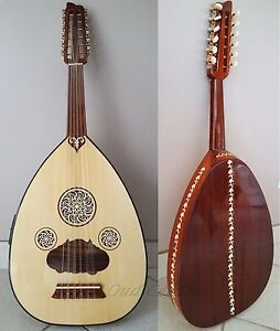 New Turkish Acoustic/Electric Oud + Soft Case and Pick Oriental Fretless Guitar