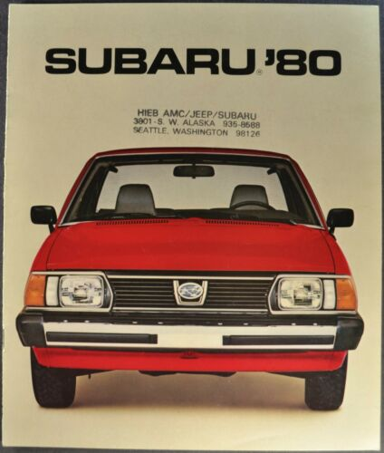 1980 Subaru Brochure GL DL Sedan STD Hatchback Wagon Brat 4x4 Excellent Original