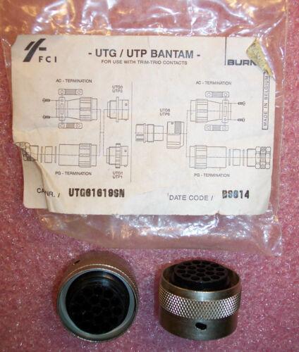 QTY (2)  UTG61619SN FCI 19 POSITION CIRCULAR CONNECTORS
