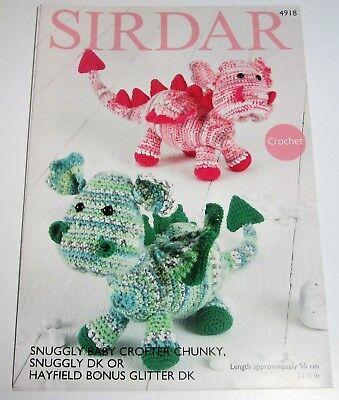 - Sirdar Snuggly DRAGON Stuffed Toy Crochet Pattern #4918