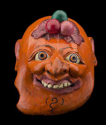 Small Mask nepal orange Protector Shaman ancestor Himalaya Tibet 26114 W3