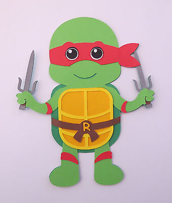 Ninja Turtle Crafts (TMNT Ninja Turtle Rafael Paper Doll Paper Die Cut Scrapbook)