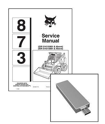 Bobcat 873 Skid Steer Workshop Service Manual On New Usb Stick. Free Shipping