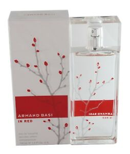 In Red By Armand Basi 3.4/3.3oz. Edt Spray For Women New In Box