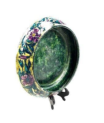 Antique Morris Ware Art Nouveau Large Center Piece Bowl Signed George Cartlidge
