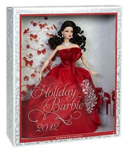 HOLIDAY BARBIE 2012 EDITION BRUNETTE EXCLUSIVE LE *NEW*