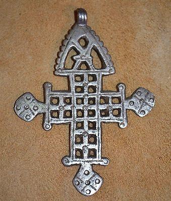 Antique Ethiopian Coptic Christian Cross Silver Pendant Ethiopia, Africa