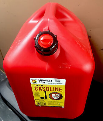 Midwest Can Company 5610 5-gallon Gas Can Fuel Container Jug W Quick-flow Spout