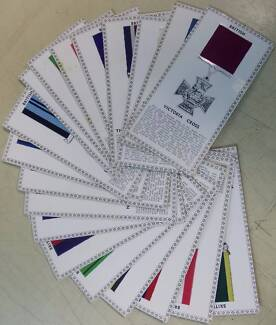 20 Imperial Awards medal CARDS & actual RIBBON pcs, 15 x7.5cm VGC Tea Tree Gully Tea Tree Gully Area Preview