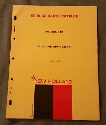 New Holland 213 Manure Spreader Service Parts Catalog