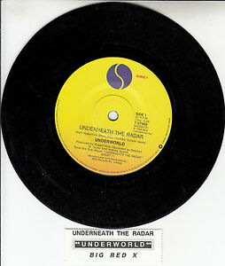 UNDERWORLD-Underneath-The-Radar-7-45-rpm-vinyl-record-juke-box-title-strip