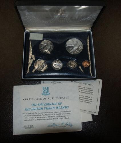 1974 British Virgin Islands Proof Six Coin Set