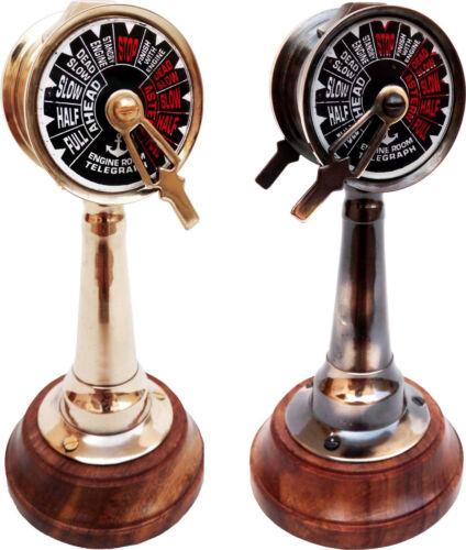 "Set of 6"" Brass Ship Telegraph Antique Engine Room Decorative Working Telegraph"